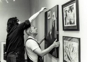 Volunterring at Blue Line Arts