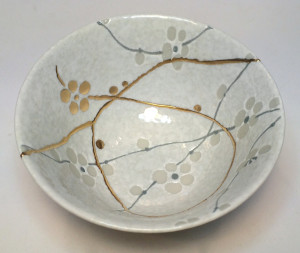 """Kintsugi bowl made by Morty Bachar, Lakeside Pottery  www.lakesidepottery.com"
